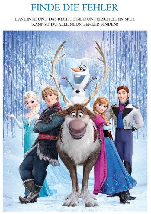 Die Eiskönigin - Finde die Fehler