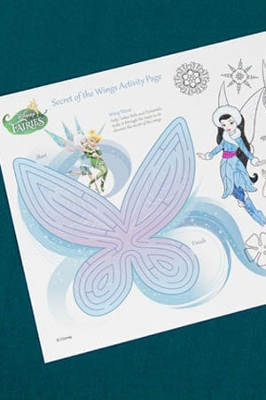 Secret of the Wings Activity Page