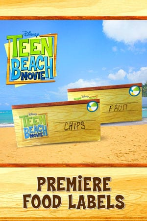 Teen Beach Movie Printable - Food Labels