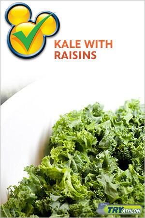 TRYit Recipe - Kale with Raisins