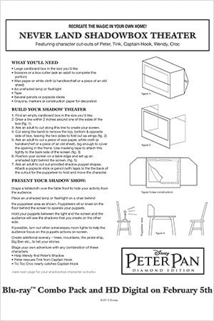 Peter Pan Activity: Shadow Box