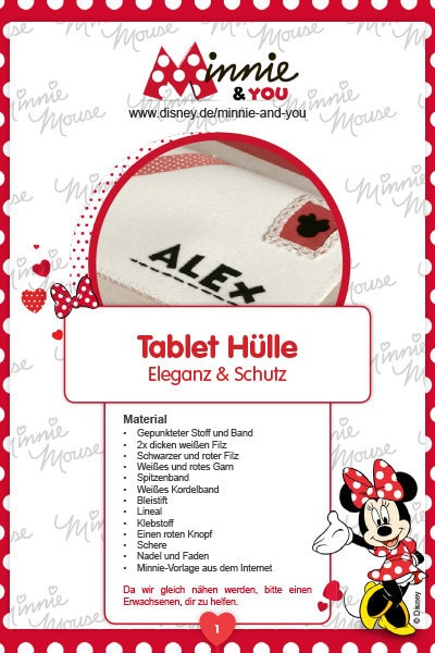 Minnie & You - Tablet Hülle