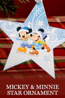 Mickey Mouse - Mickey and Minnie Star Ornament