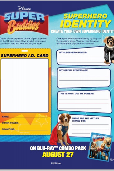 Super Buddies Superhero Identity