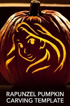 Tangled - Rapunzel Pumpkin Carving Template