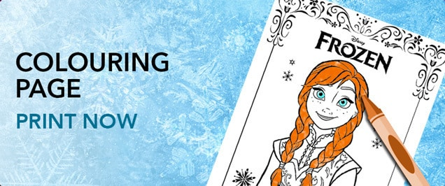 Frozen (For Grown Ups) - Anna Colouring Page