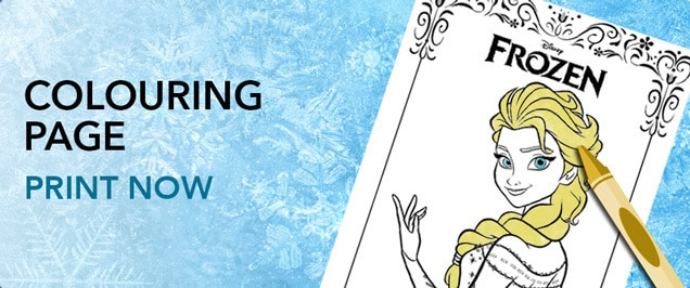 Frozen - Elsa Colouring Page