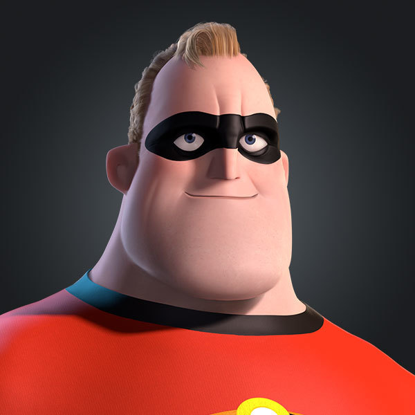 Mr. Incredible / Bob Parr, voiced by Craig T. Nelson in The Incredibles and Incredibles 2