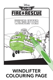 Windlifter Colouring Page