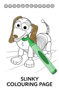 Slinky Colouring Page