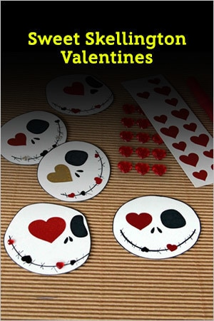 Sweet Skellington Valentines