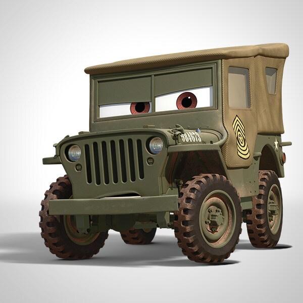 sarge characters disney cars