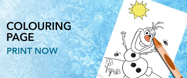 Frozen - Olaf's Summer Colouring Page