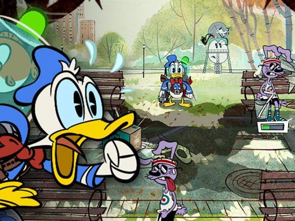 El Pato Donald en Locos por el agua