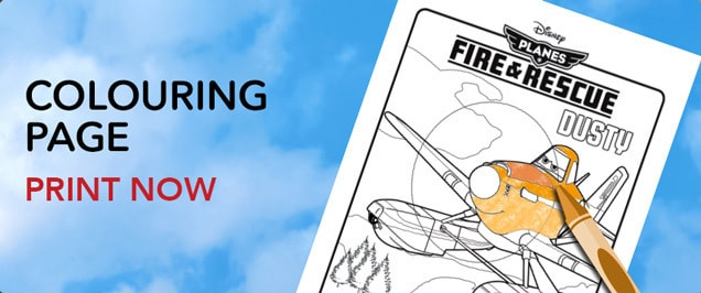 Planes - Dusty Colouring Page