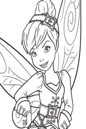 Tinker Bell Colouring Sheet