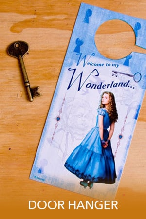 Alice in Wonderland - Door Hanger