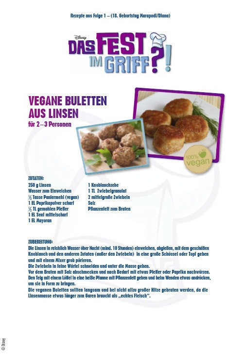 Das Fest im Griff - Vegane Buletten