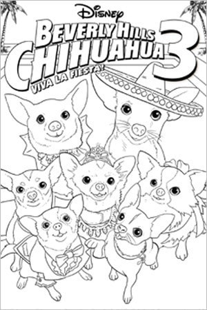 Beverly Hills Chihuahua Coloring Page