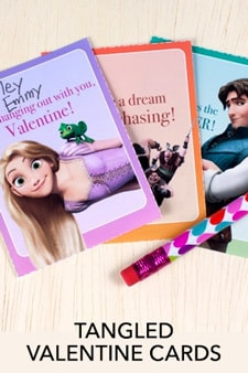 Tangled Valentine Cards