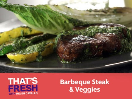 Barbecued Steak & Vegetables