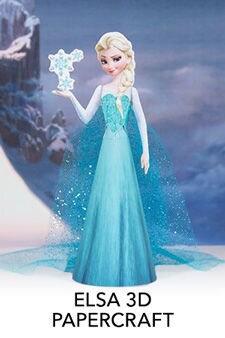 Elsa 3D Papercraft