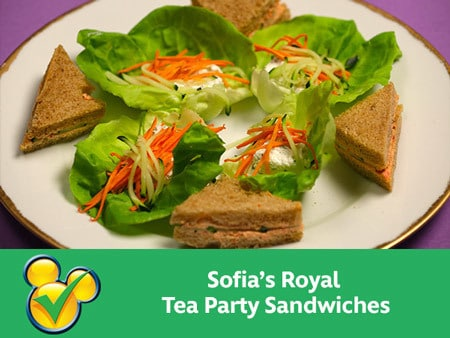 Sofia's Royal Tea Party Sandwiches and Lettuce Cups