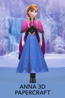 Frozen - Anna Papercraft