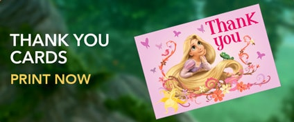 Tangled - Rapunzel Thank You Cards