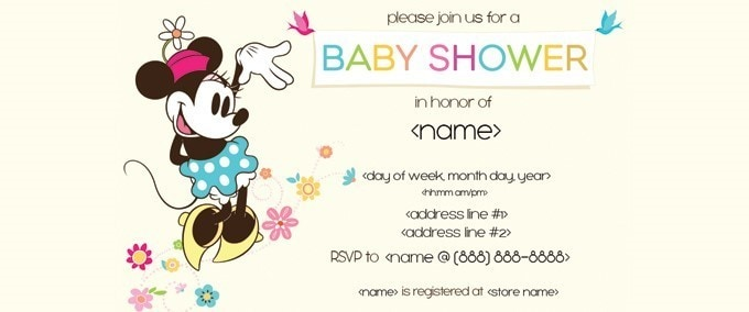 Minnie Baby Shower Invitation
