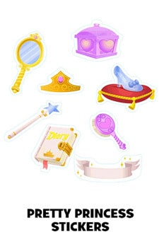 Pretty Princess Stickers (For Grown Ups)