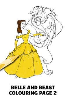 Beauty and the Beast Colouring Page 2