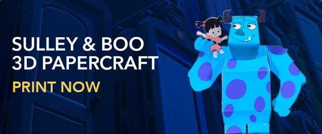Monsters Inc. - Sulley and Boo 3D Papercraft