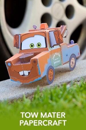 Tow Mater 3D Papercraft