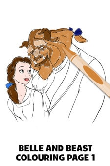 Beauty and the Beast Colouring Page 1