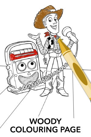 Toy Story - Colouring Page Woody