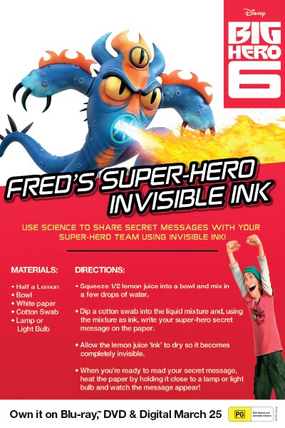 Big Hero 6 - Invisible Ink
