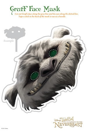Legend of the NeverBeast Activity - Gruff Mask