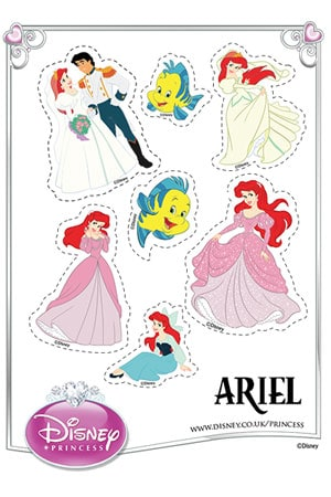 UK - Disney Princess - Ariel Stickers