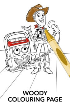 Woody Colouring Page