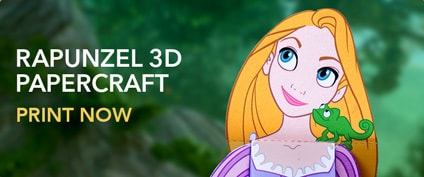 Printable - Tangled - Rapunzel Papercraft