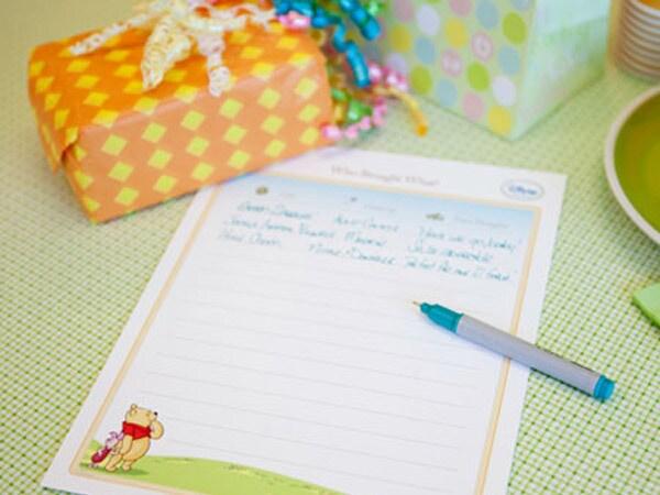 Winnie The Pooh Gift List