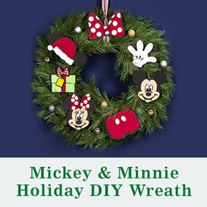 Holiday 2014 - Family - Mickey & Minnie Holiday DIY Wreath