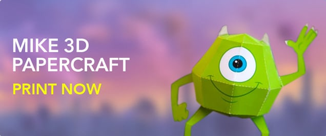 Monsters Inc. - Mike Wazowski 3D Papercraft
