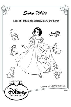 Snow White Animal Count