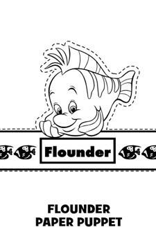 Flounder Paper Puppet