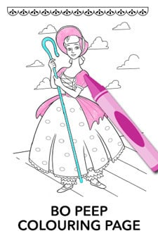 Bo Peep Colouring Page