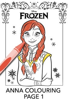 Anna Colouring Page 1