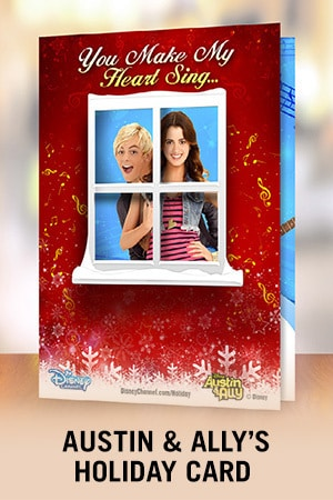 Fa-la-la-lidays: Austin and Ally - Holiday Card