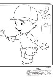 manny and the tools - Handy Manny Hammer Coloring Pages